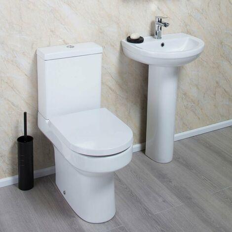 Cali Montego Value Bathroom Suite - Close Coupled Toilet - 1 Tap Hole Basin