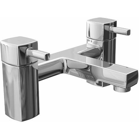 Cali Nero Bath Filler Tap - Deck Mounted - Chrome