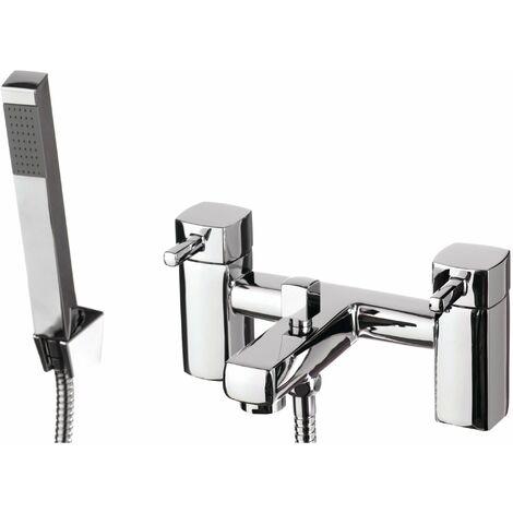 Cali Nero Bath Shower Mixer Tap - Deck Mounted - Chrome
