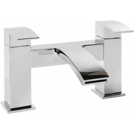 Cali Peak Waterfall Bath Filler Tap - Deck Mounted - Chrome