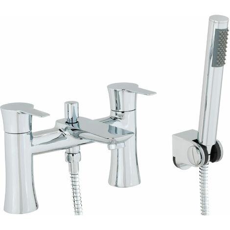 Cali Pedras Bath Shower Mixer Tap - Deck Mounted - Chrome
