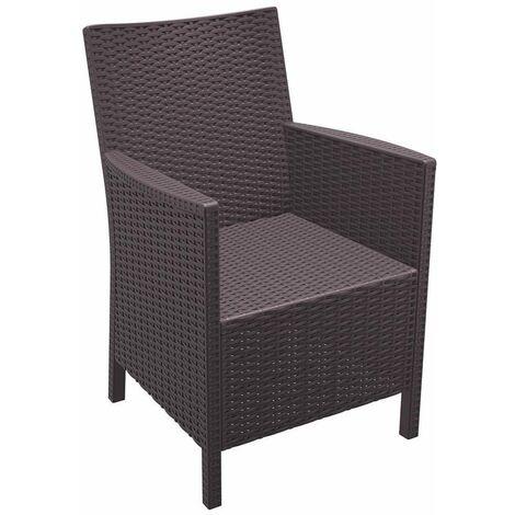 Cali Rattan Arm Chair - Brown
