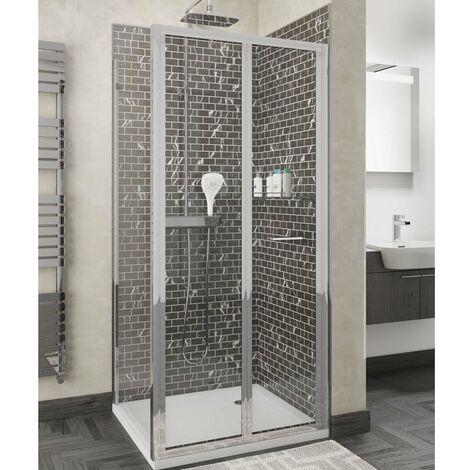 Cali Seis Bi-Fold Door Shower Enclosure 900mm x 760mm - 4mm Glass
