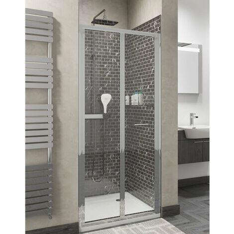 Cali Seis Bi-Fold Shower Door - 800mm Wide - 4mm Glass