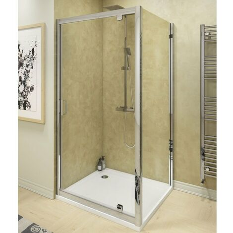 Cali Seis Pivot Door Shower Enclosure 760mm x 760mm - 6mm Glass