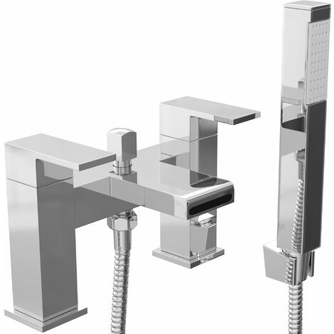 Cali Spendo Waterfall Bath Shower Mixer Tap - Deck Mounted - Chrome