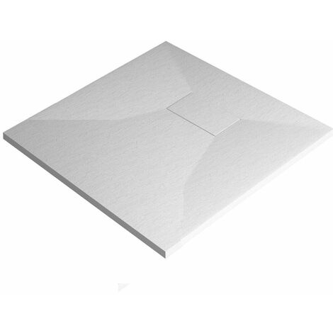 Cali Square Stone Effect Shower Tray 800mm x 800mm - White