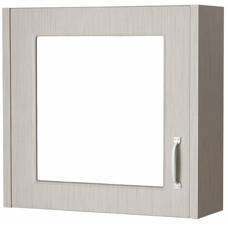 Cali Traditional Mirrored Bathroom Cabinet 600mm Wide 1 Door - Stone Grey