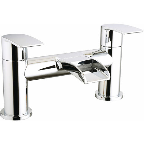 Cali Vigo Waterfall Bath Filler Tap - Deck Mounted - Chrome