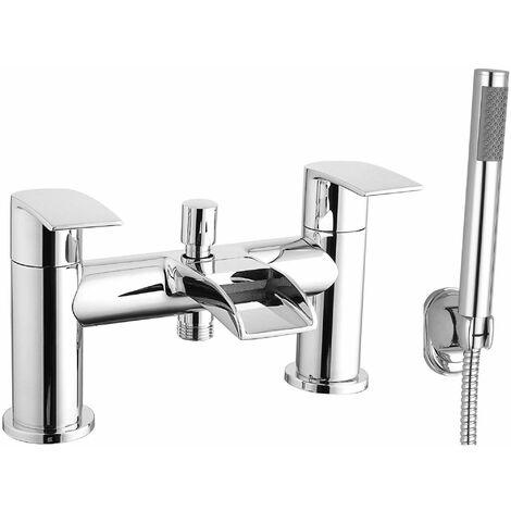 Cali Vigo Waterfall Bath Shower Mixer Tap - Deck Mounted - Chrome