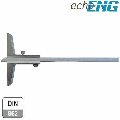 """main image of """"Calibro di profondità 0 - 150-300 mm acciao INOX 1/50 0,02 professionale"""""""