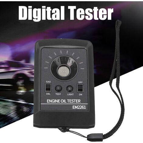 Calidad del aceite 12V LED Digital Tester Motor Motor Diesel Detector de Gas Liquido Analizador, Negro