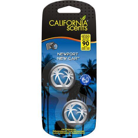 """main image of """"California Car Scents - Ambientador de Coche con Fragancia, Olor y Esencias a New car, Aroma a Coche nuevo (Minidifusores, 2UDS)"""""""