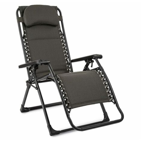 """main image of """"California Green Recliner Garden Chair FoldableUpholstered Checked Pattern"""""""