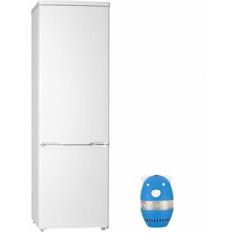 CALIFORNIA Réfrigérateur frigo Combiné blanc 273L Froid statique Clayette verre - Blanc