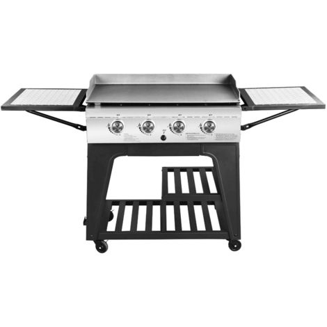 Callow Outdoor Gas BBQ Plancha with Powder-coated Trolley