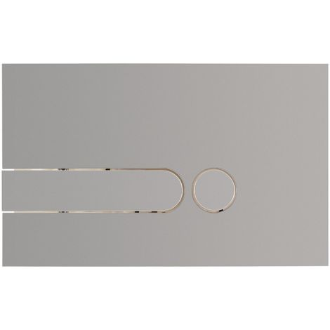 Calmwaters® Drückerplatten-Set in Matt-Chrom für WC-Spülkasten mit Zwei-Mengen Spülung inklusive Befestigung - 30AD3151