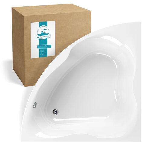Calmwaters® Eckbadewanne 140x140 cm für Zwei, Acrylwanne Exclusive 2, Duowanne aus Acryl, Maße 140 x 140 cm, Duo-Badewanne als Eck-Badewanne in Weiß - 02SL3335