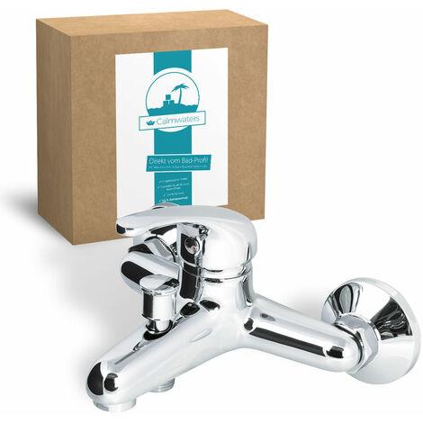 Calmwaters® Essential 3 - Einhebel-Wannenarmatur mit rundem Umsteller für die Badewanne zur Aufputz-Wandmontage - 13PZ2435
