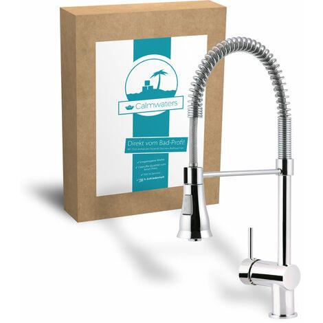 Calmwaters® Flexible Spiralfederarmatur für Küchen mit Geschirrbrause & Wasser-Sparfunktion - 12PZ2451