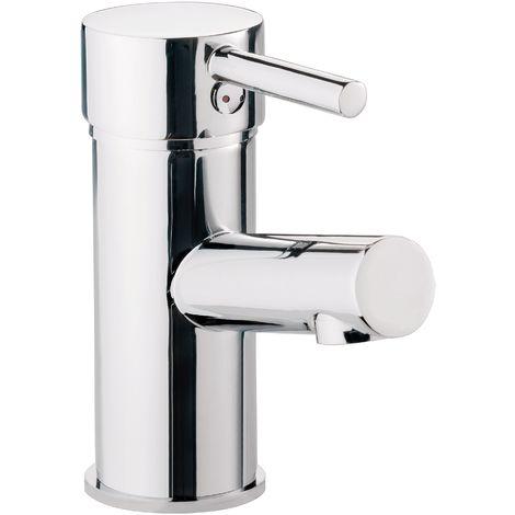 Calmwaters® - Honest Small - Waschtischarmatur mit Zugstangen-Ablaufgarnitur und Keramikkartusche für Waschbecken - 14PZ2558