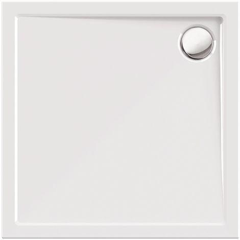Calmwaters® Modern Select - Eckige Bodengleiche Dusche in in 90 x 90 cm aus Acryl mit Ablaufloch in 90 mm - 01SL2984