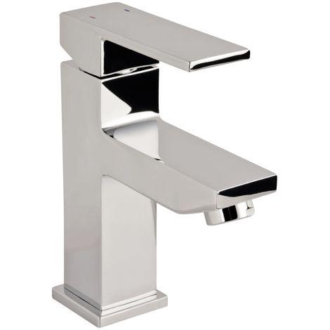 Calmwaters® - Modern Square - Eckige Waschbeckenarmatur mit Ablaufgarnitur und Keramikkartusche für das Waschbecken - 14PZ2416