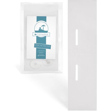 Calmwaters® Schallschutzset aus weißem Kunststoff zur Wandmontage von wandhängenden Waschbecken - 44PM3423