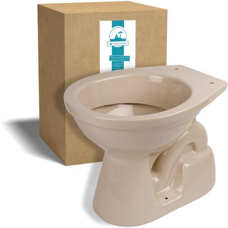 Calmwaters® Stand-WC mit senkrechtem Abgang innen in Beige-Bahamabeige als Tiefspüler - 07AB3456