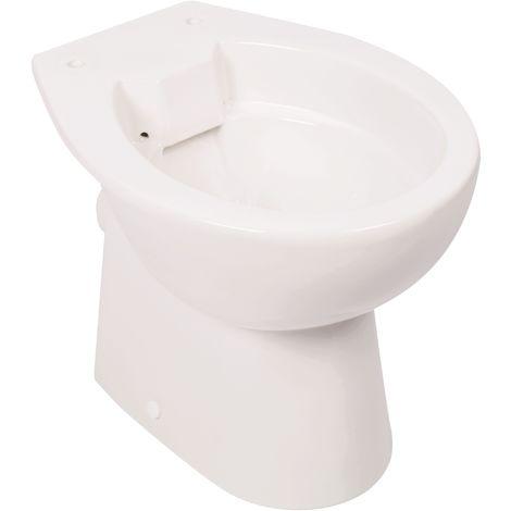 Calmwaters® Universal - Spülrandloses Stand-WC mit waagerechtem Abgang als Tiefspüler mit Befestigung - 07AB3715