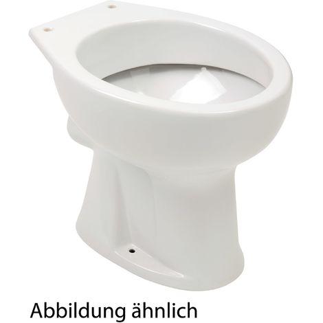 Calmwaters® Universal - Stand-WC als Flachspüler mit waagerechtem Abgang in Weiß - 07AB2317