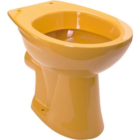Calmwaters® Universal - Stand-WC in Curry-Gelb mit waagerechtem Abgang als Tiefspül-WC - 07AB2251