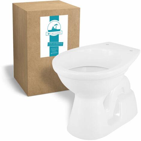 Calmwaters® Universal - Stand-WC mit senkrechtem Abgang innen als Tiefspüler in Weiß - 07AB2267