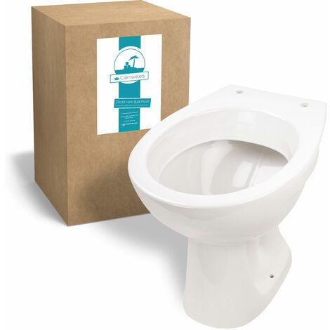 Calmwaters® Universal - Stand-WC mit waagerechtem Abgang als Tiefspüler in Weiß - 07AB2318