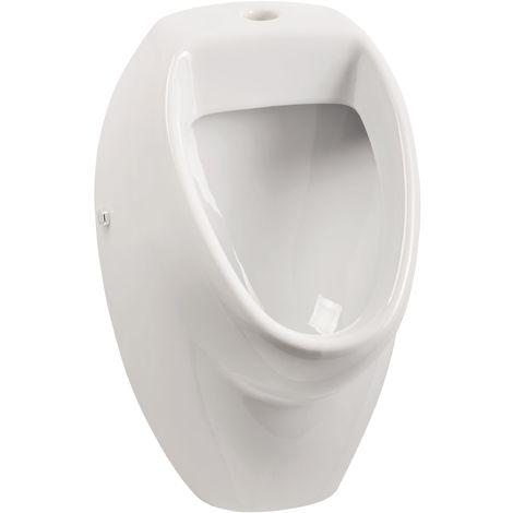 Calmwaters® - Universal - Urinal mit Zulauf von oben in Weiß für Druckspüler und Absaugesiphon geeignet - 46AB3497