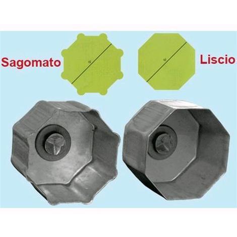 "main image of ""Calotta per rulli ottagonali - mod. Liscio cm. 60xP40 1Pz"""