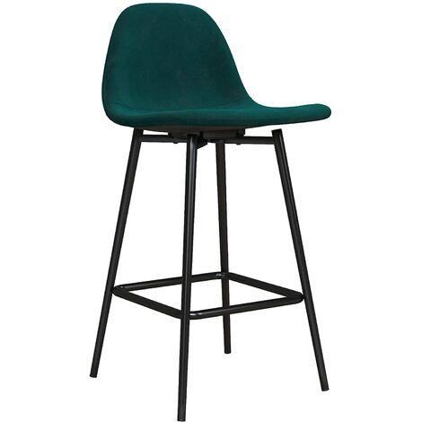 Calvin Upholstered Kitchen Dining Room Counter Bar Stool Velvet Green