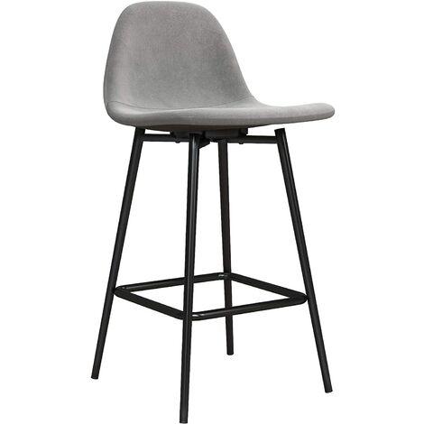 Calvin Upholstered Kitchen Dining Room Counter Bar Stool Velvet Grey
