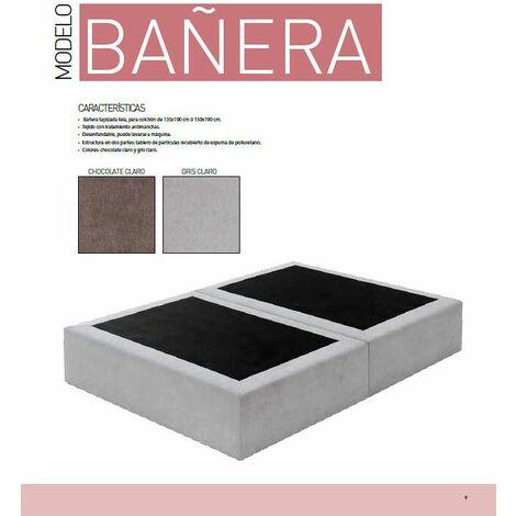 Cama Bañera 135x190 cms NOVEDAD, color Gris Claro, ref-01