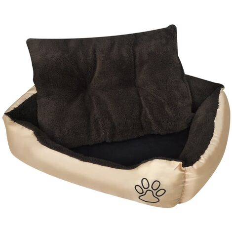Cama blanda para perros con un cojín acolchado, tamaño XL - Marrón
