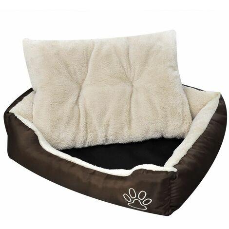 Cama blanda para perros con un cojín blanco acolchado, tamaño S HAXD06928