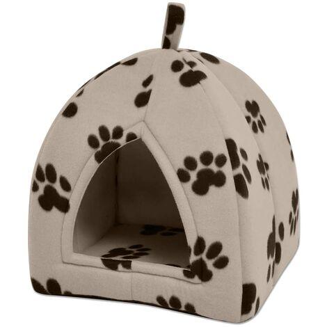 Cama cubo para gatos tamaño L beige