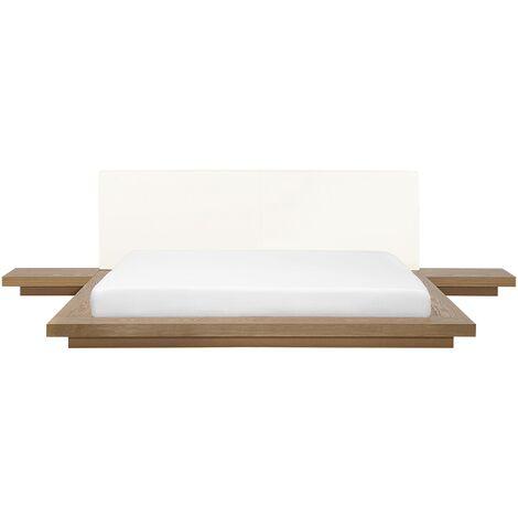 Cama de agua madera clara 180x200 cm ZEN