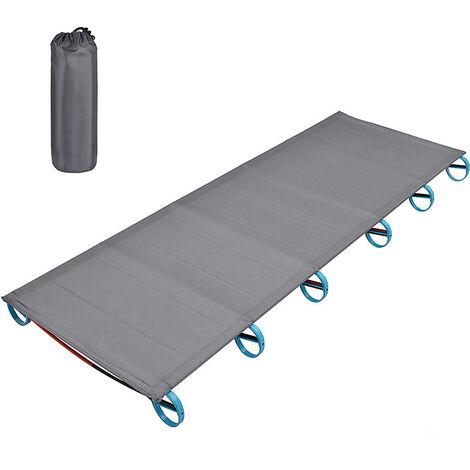 cama de camping al aire libre, en aleacion de aluminio