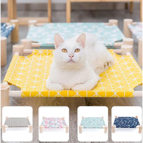 Cama de gato elevada Hamaca de gato,Rejilla amarilla