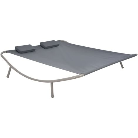 Cama de jardín 200x173 cm acero gris antracita