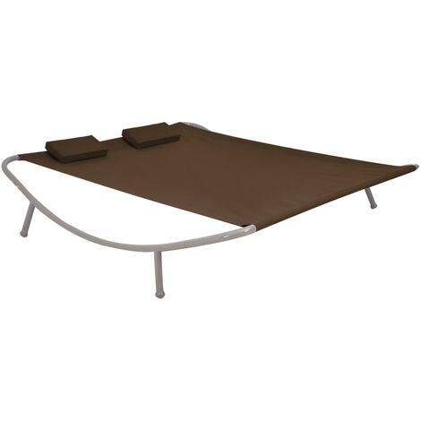 Cama de jardín 200x173 cm acero marrón