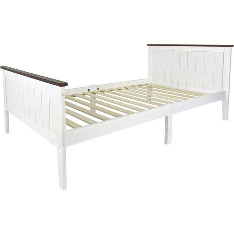 Cama de madera PARIS WALNUT 200x90