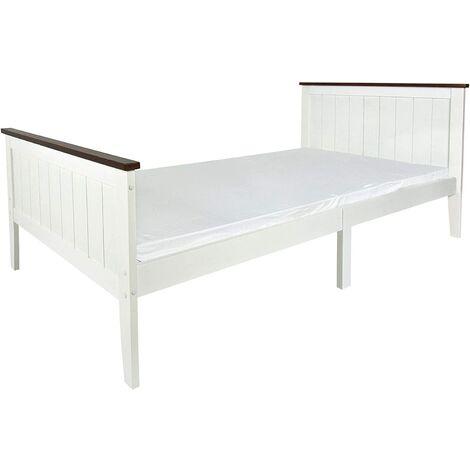 Cama de madera PARIS WALNUT 200x90 con un cómodo colchón