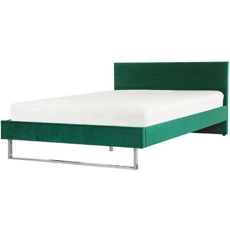 Cama de terciopelo verde 180x200 cm BELLOU